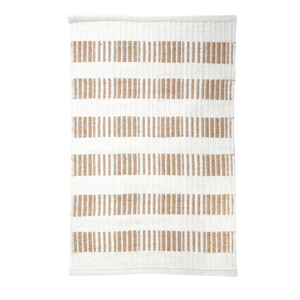 Brooke Wool/Cotton Natural Handmade Flatweave Wool Rug