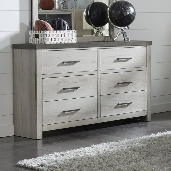 Pinar 6 Drawer Double Dresser by Gracie Oaks