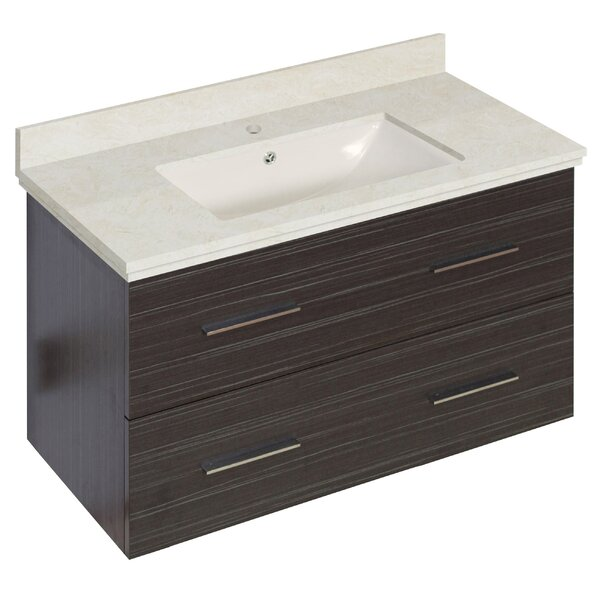 Phoebe Drilling Wall Mount 36 Rectangle Single Bathroom Vanity Set by Orren Ellis