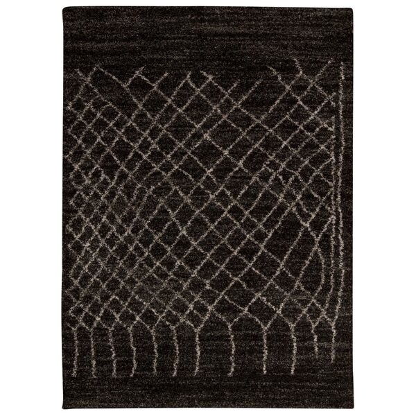 Strassen Black Area Rug by Bungalow Rose
