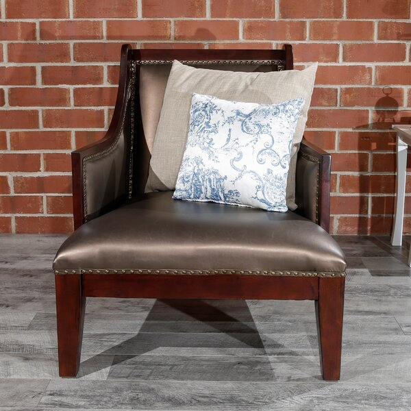 Abbey Leather Armchair By Longshore Tides