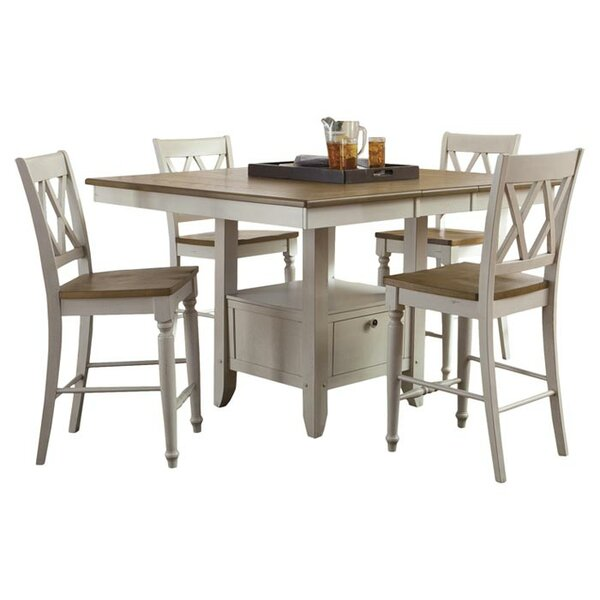 Cher 5 Piece Counter Height Dining Set by Rosalind Wheeler