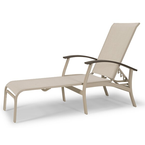 Belle Isle Marine Grade Sling Reclining Chaise Lounge by Telescope Casual
