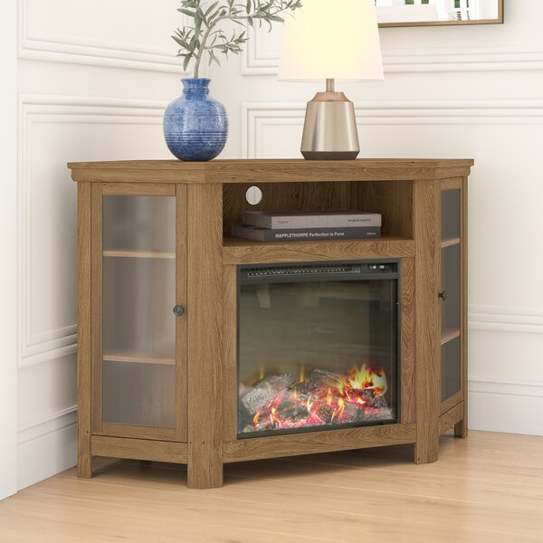 Review Tieton Corner TV Stand For TVs Up To 50