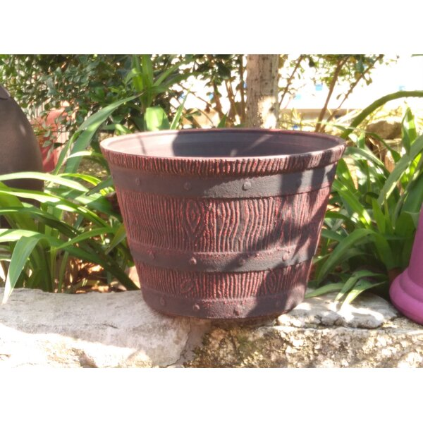 Wood Barrel Planter by Arcadia Garden Products