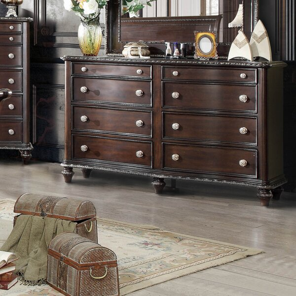 Cornelius 8 Drawer Double Dresser by Fleur De Lis Living