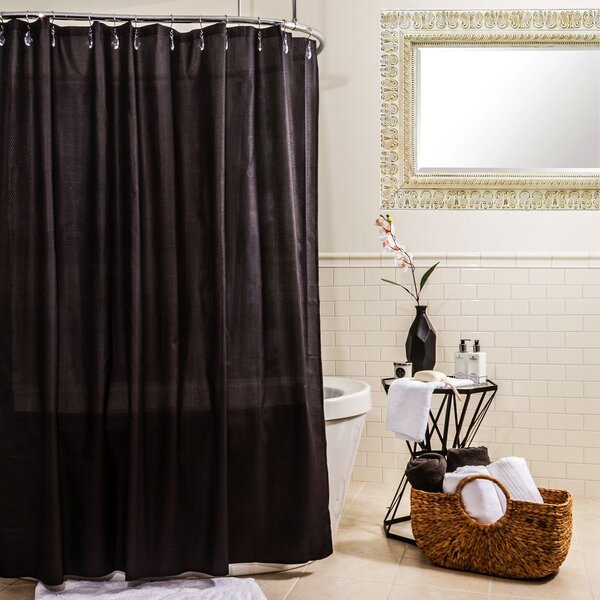 Water Proof Microfiber Shower Curtain by Symple Stuff