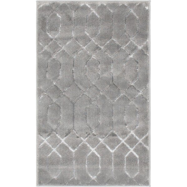 Glam Gray Area Rug by Marilyn Monroe