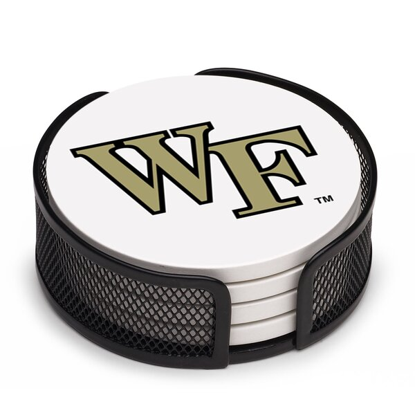 5 Piece Wake Forest University Collegiate Coaster Gift Set by Thirstystone