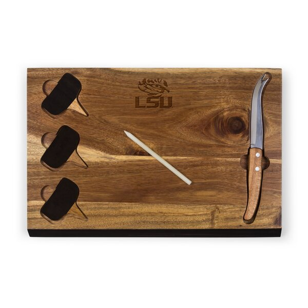 6 Piece Acacia Bamboo Cheese Board and Platter Set by TOSCANA™