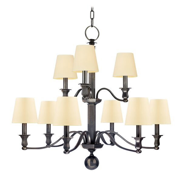 Elbert 9-Light Shaded Tiered Chandelier by Darby Home Co Darby Home Co