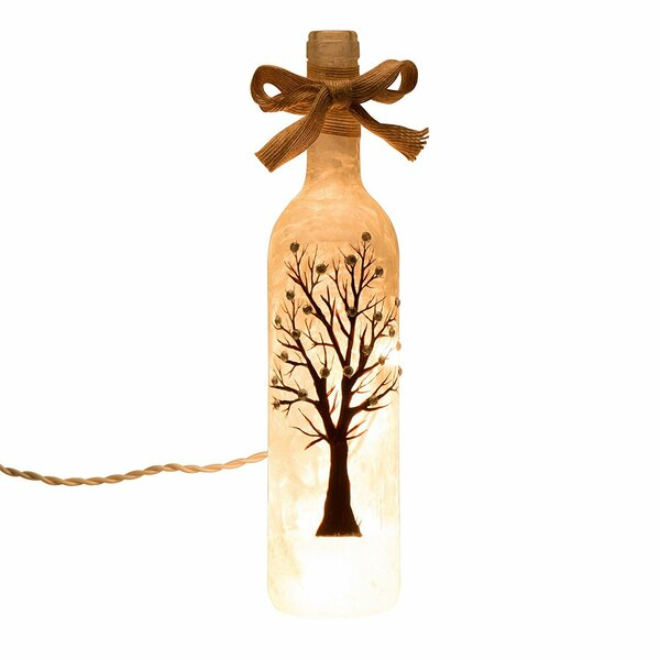 Handcrafted Frosted Tree Glass Bottle Light Lamp by Glitzhome