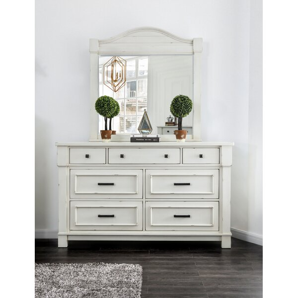 Bruno 7 Drawer Double Dresser with Mirror by Longshore Tides