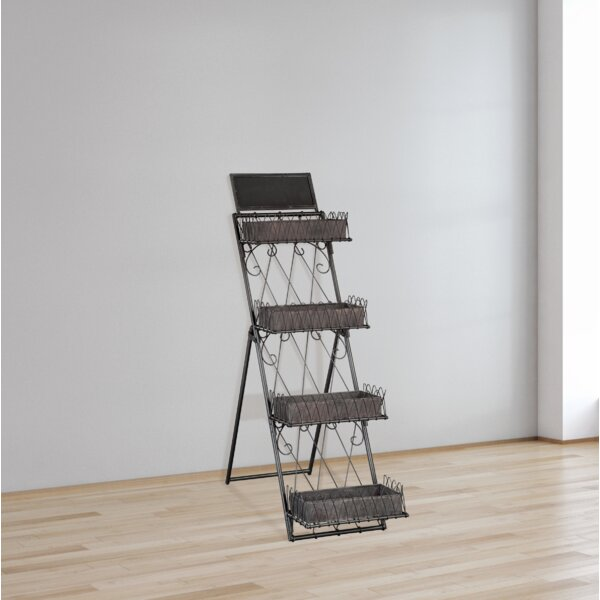 Indie Leaning Ladder Bookcase by 17 Stories