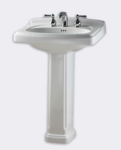 Portsmouth 24.3 Ceramic 25 Pedestal Bathroom Sink with Overflow by American Standard