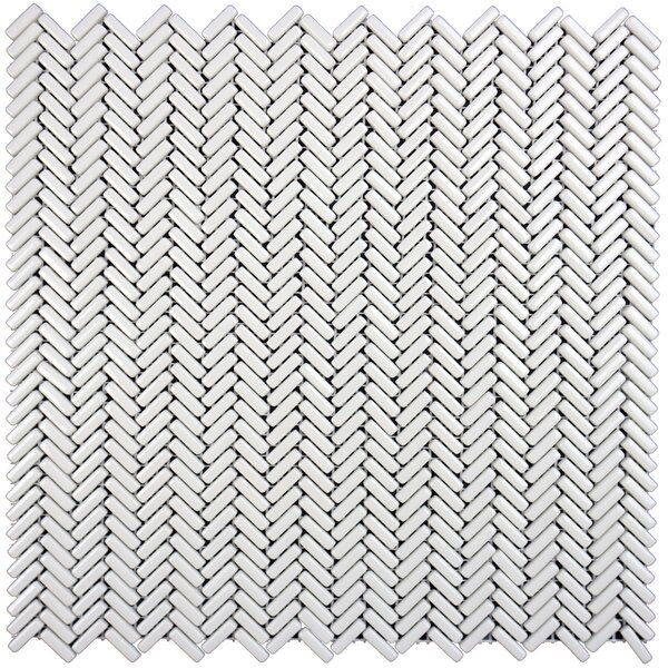 Constantine 0.18 x 0.81 Glass Mosaic Tile in Lancelot White by Solistone