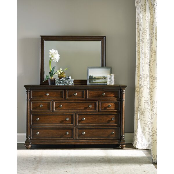 Leesburg 10 Drawer Dresser with Mirror by Hooker Furniture