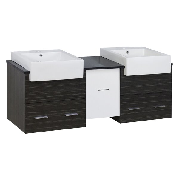 Bartle 60 Double Bathroom Vanity Set by Orren Ellis