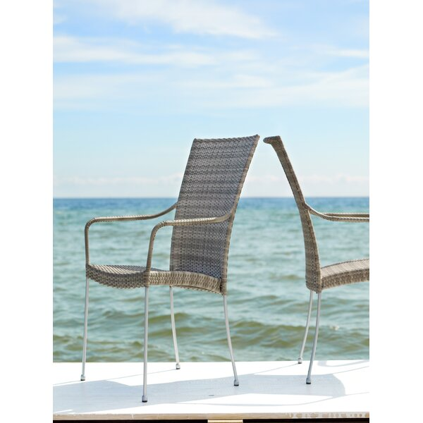 Saturn Stacking Patio Dining Chair by Sika Design