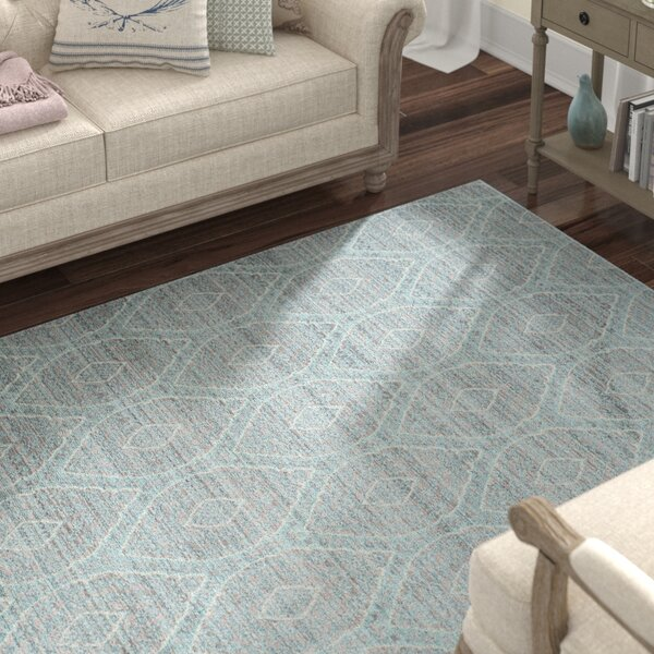 Longeville Gray/Baby Blue Area Rug by Lark Manor