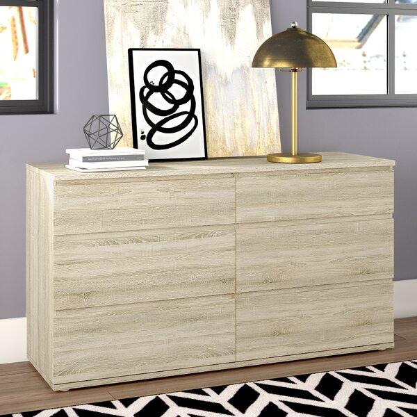 Karev 6 Drawer Wood Double Dresser by Zipcode Design