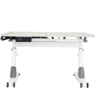 31.5 W Writing Desk with Wheels and USB Port ByKid2Youth