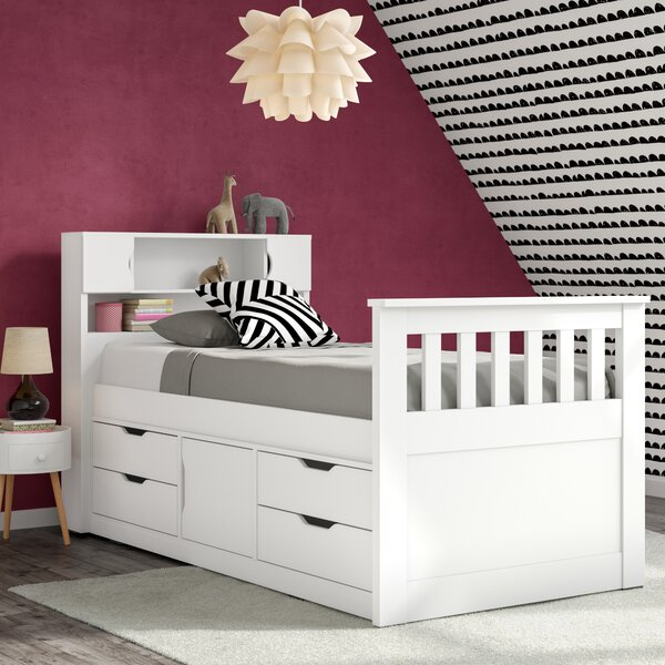 Angelica Twin Mates Bed with Drawers and Shelves by Mack & Milo