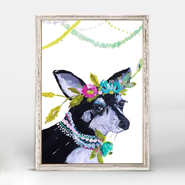 Casey Boho Pearl Mini Framed Canvas Art by Bungalow Rose