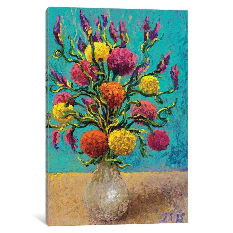 Red Barrel Studio Iris Scott Freshly Painted Vase Painting Print