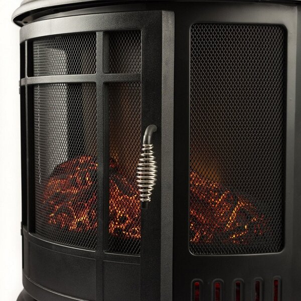 Curved 400 sq. ft Vent Free Electic Stove by Regal Flame