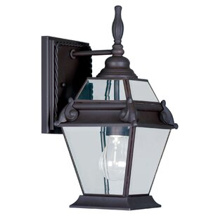 Affordable Eberhardt 1-Light Metal Outdoor Wall Lantern By Darby Home Co