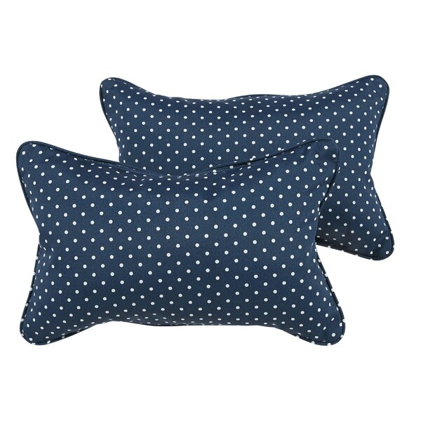 Rundell Water Resistant Indoor/Outdoor Lumbar Pillow (Set of 2) by Longshore Tides