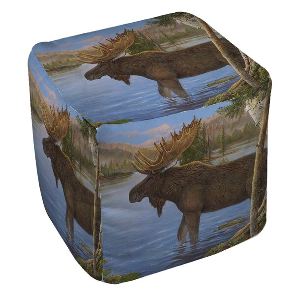 Majestic Moose Pouf by Manual Woodworkers & Weavers
