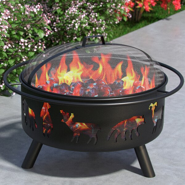 Wild Life Outdoor Steel Wood Burning Fire Pit by Regal Flame