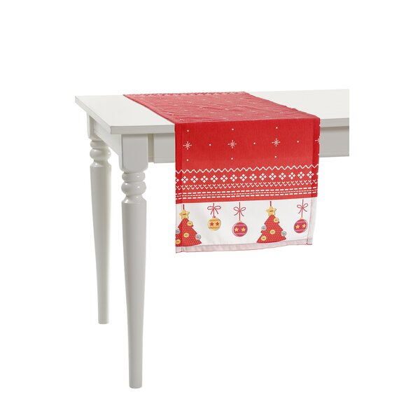 Two Side Little Christmas Trees Table Runner by De