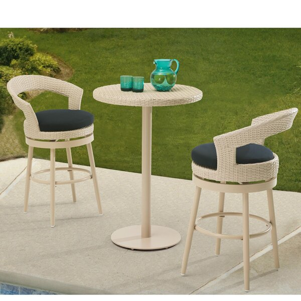 Harborcreek 3 Piece Bistro Set with Cushions by Red Barrel Studio