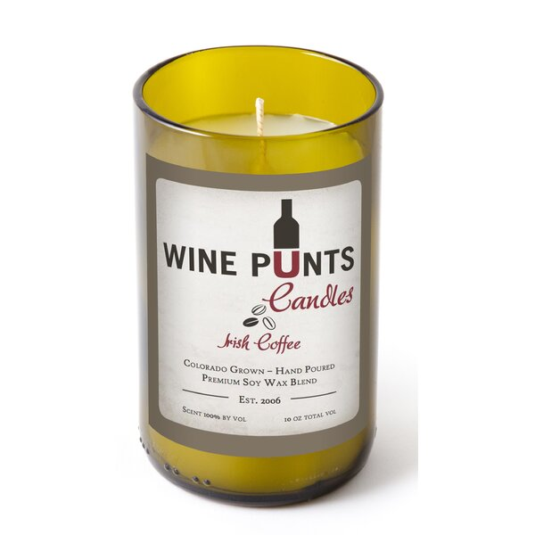 Irish Coffee Scented Jar Candle by Wine Punts