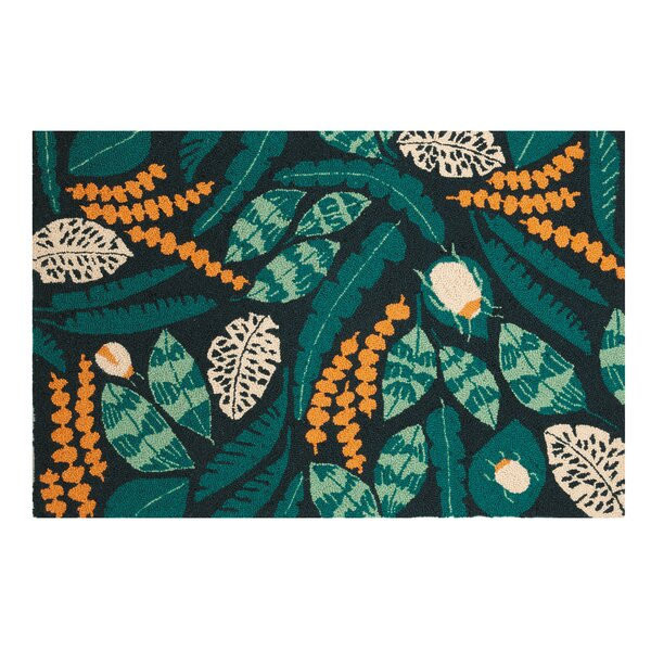 ConCourse Garden Hand-Hooked Wool Green Area Rug by Bay Isle Home