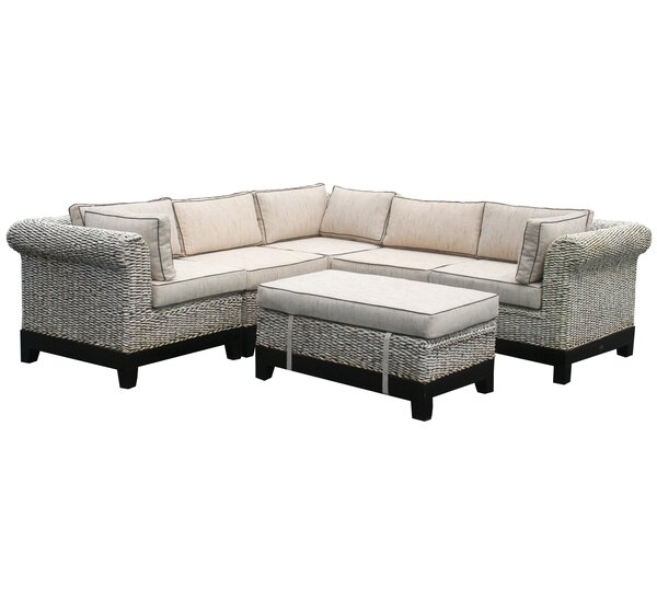 Brenner Symmetrical Modular Sectional with Ottoman by Darby Home Co