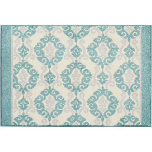 Great Expectation Light Teal Area Rug by Waverly