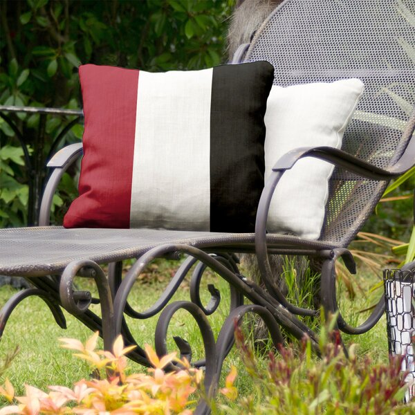 Atlanta Football Stripes Indoor/Outdoor Throw Pillow
