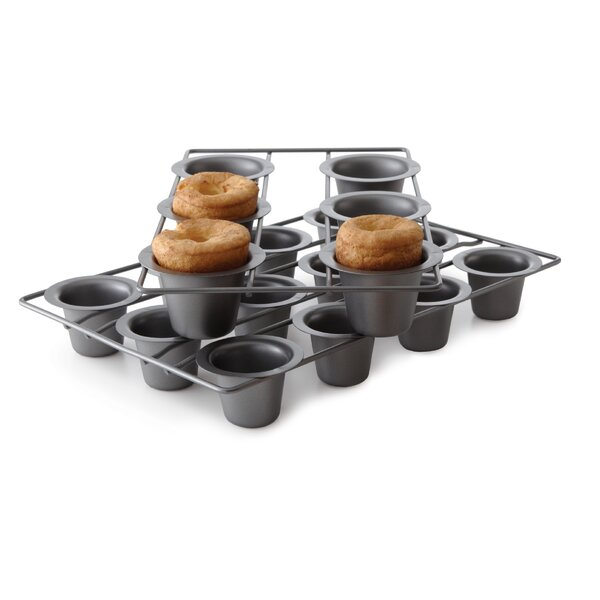 12 Cup Non-Stick Mini Popover Muffin Pan by Chicago Metallic