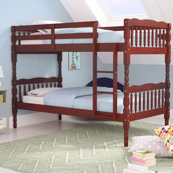 Talon Slat Twin Over Twin Bunk Bed by Harriet Bee