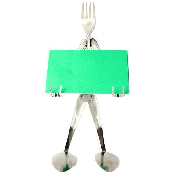 Fork Recipe Card Stand by Forked Up Art