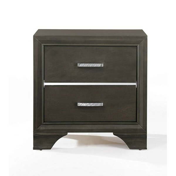 Bejou Wooden 2 Drawer Nightstand by House of Hampton