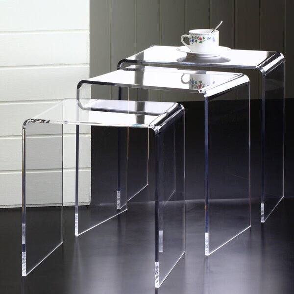 Pure Décor 3 Piece Nesting Tables By Fox Hill Trading