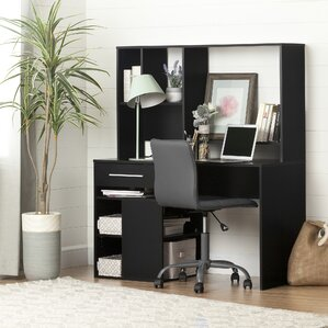 annexe computer desk with hutch and chair set