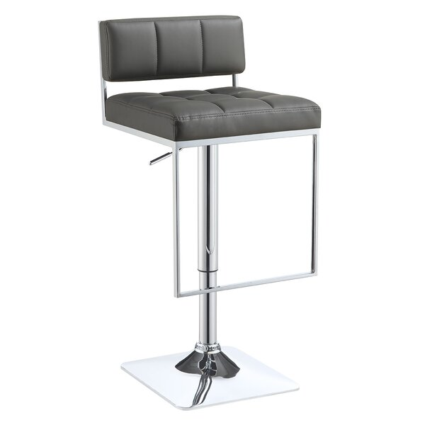 Braeden Adjustable Height Bar Stool by Wade Logan