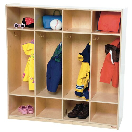 Contender 4 Wide Kids Locker by Wood Designs
