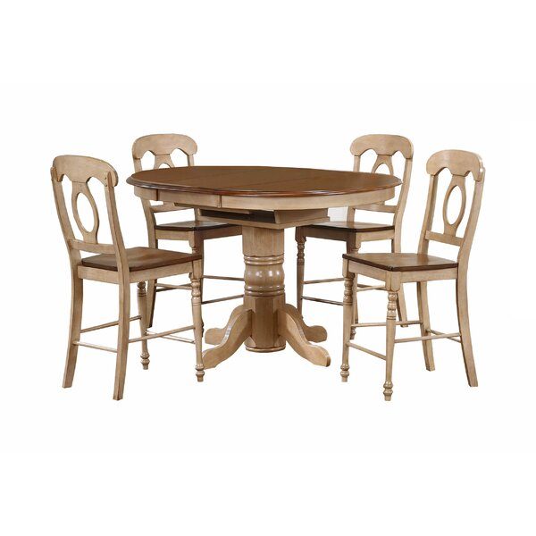 Huerfano Valley 5 Piece Pub Table Set by Loon Peak Loon Peak